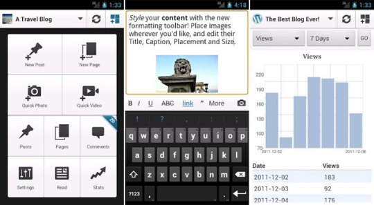 WordPress for Android 2.1 pasa a ser oficial